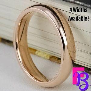 2MM | 4MM | 6MM | 8MM Rose Gold Tungsten Ring
